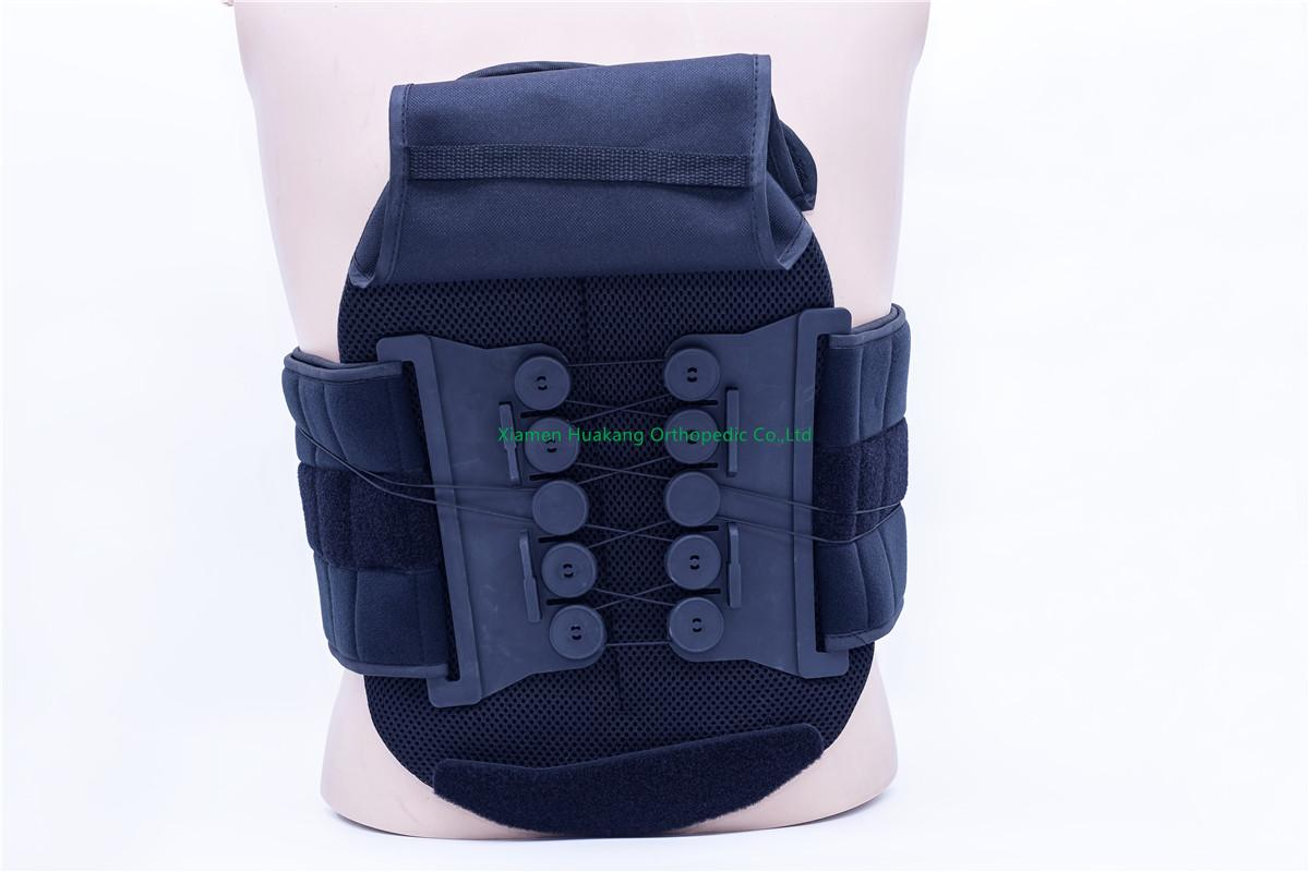 Lumbosacral spine support back brace
