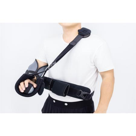 Shoulder slings with abduction pillows metal supports